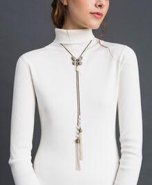 Halskette mit Schmetterling und Quasten Altmessing Frau 192TA4362-0S