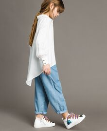 Satin asymmetric shirt Off White Child 191GJ2361-02