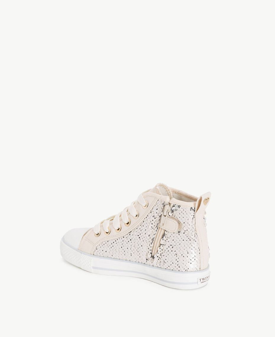 Sequin sneakers Silver Child HS88GA-03