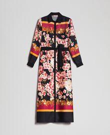 Robe chemisier longue avec imprimé foulard floral Imprimé Foulard Femme 192TP2604-0S
