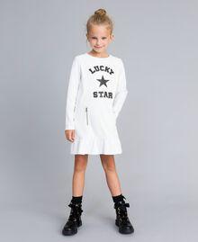 Milan stitch faux leather dress Off White Child GA82LU-0S