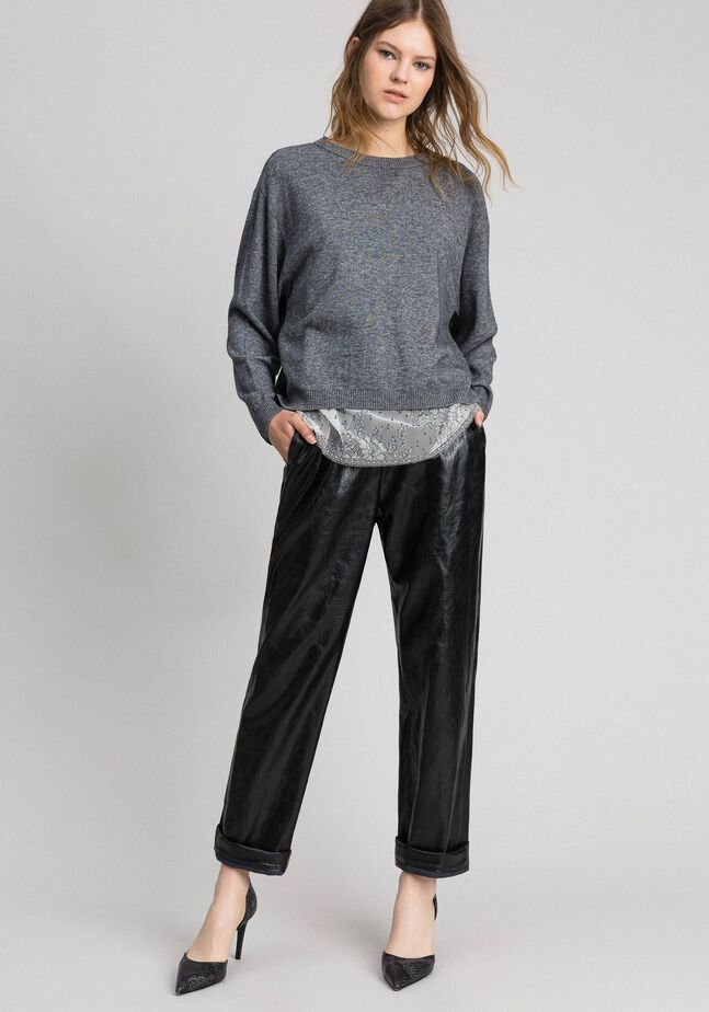 Pull boxy avec top nuisette
