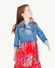 Denim biker jacket Light Denim Child GS82TP-02