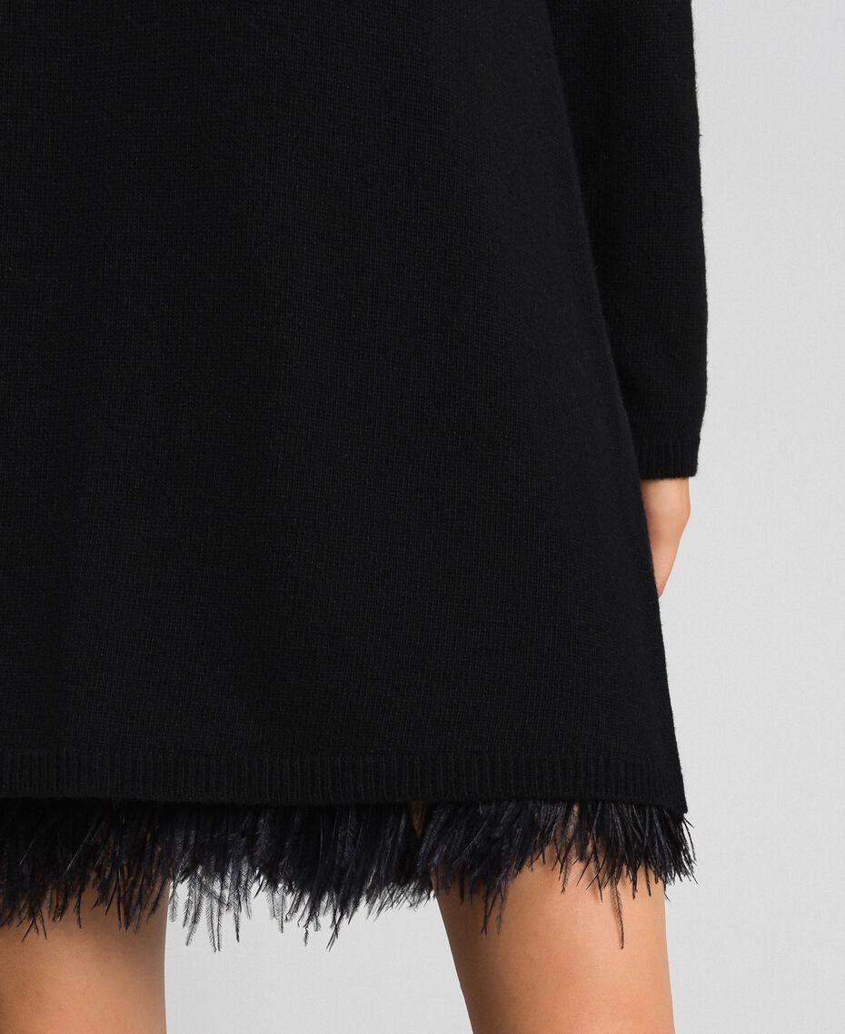 Robe en cachemire mélangé avec fond de robe Noir Femme 192TT3320-05