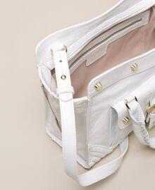 Leather Rebel shopping bag with pocket Titanium Gray Woman 201TA723Z-05