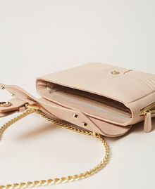 "Large leather Rebel shoulder bag with studs ""Nude"" Beige Woman 202TB7233-06"