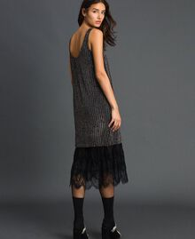 Sequin embroidery and lace dress Black Woman 192TP2461-03