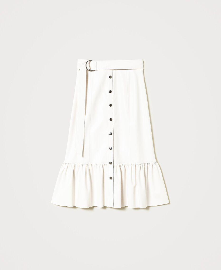 Midi skirt with flounce Vanilla White Woman 211MT2161-0S