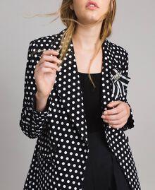 Veste blazer à pois Bicolore Noir / Blanc Femme 191MP2360-05