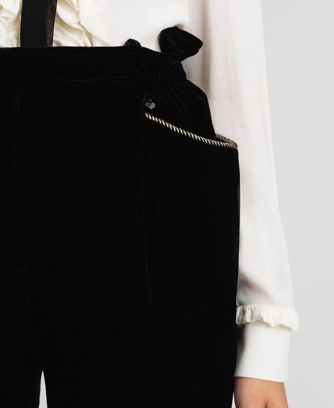 Pantalon en velours Noir Femme 192TT2420-04