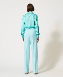 Pantalon en laine froide Vert «Nymphe Foncé» Femme 211TQ2057-03