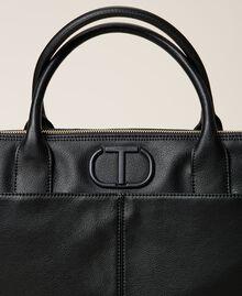 Shopper mit Logo Schwarz Frau 212TB7030-03