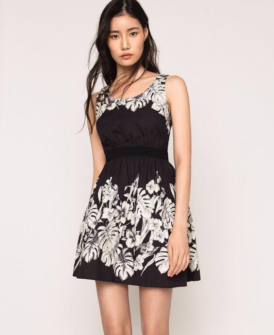 Поплиновое платье с цветочным мотивом