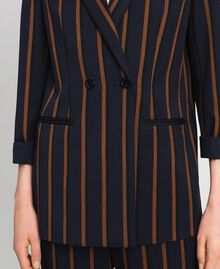 Double breasted pin stripe blazer Night Blue Striped / Red Earth Woman 192ST2230-05