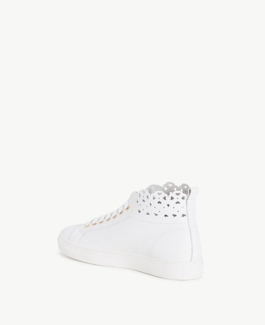 TWINSET Scalloped sneakers White Woman CS8TFU-03
