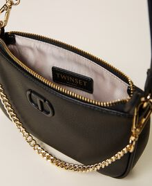 Shoulder bag with chain and logo Black Woman 212TB7050-06