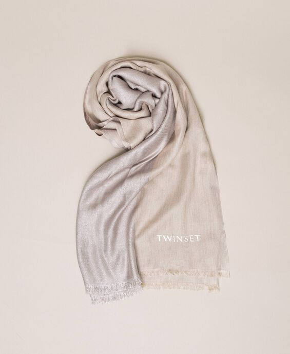 Two-tone stole with lurex
