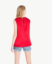 Ruched top Vermilion Red Woman JS82QP-03
