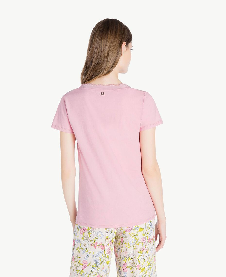 Silk T-shirt Hydrangea Pink Woman PS82HB-03