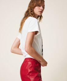 T-shirt con stampa e spille Off White Donna 202MT2303-02