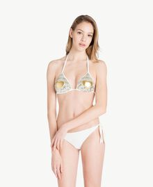 Sequin triangle bra Two-tone Gold / Silver Woman BS8322-02
