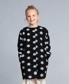 Manteau en drap à pois Imprimé Pois Noir / Blanc Cassé Enfant GA82CG-04