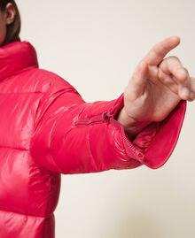 "Oversize puffer jacket with maxi pockets ""Cerise"" Fuchsia Woman 202MP2050-05"