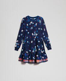 Robe avec imprimé floral et volant Imprimé «Petite Fleur» Indigo Femme 192MT3271-0S