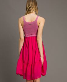 "Chiffon and knit dress ""Psychedelic Pink"" Fuchsia Woman 191LB2KAA-03"