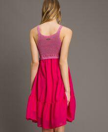 """Трикотажное платье с шифоном Фуксия """"Ядовитый розовый"""" женщина 191LB2KAA-03"""