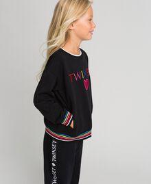 Sweatshirt with multicolour logo Black Child 999GJ2011-02