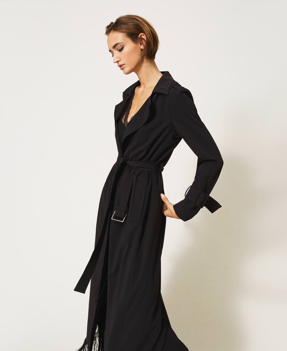 Floaty trench coat with belt Black Woman 202TP204A-03