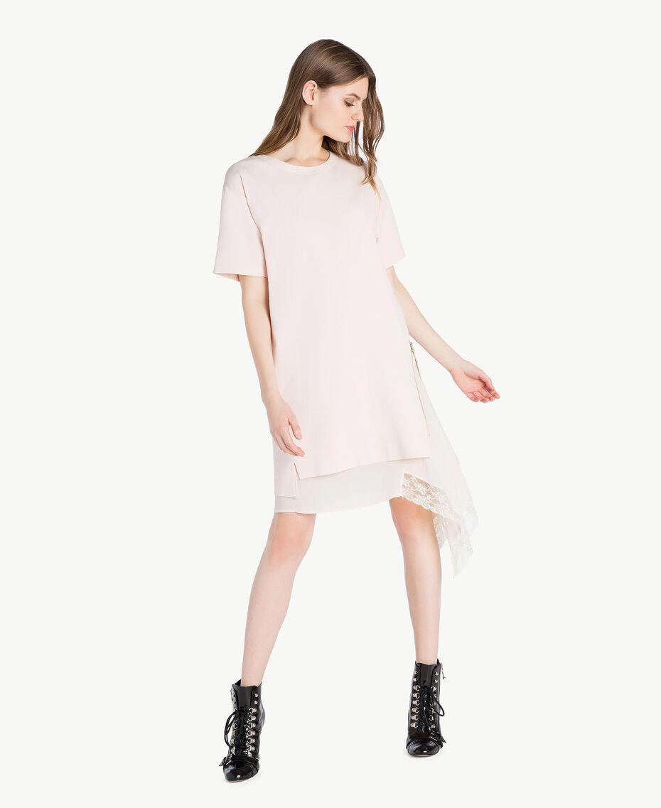 Lace dress Pale Ecru Woman PS828P-01