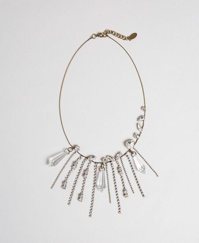 Halskette mit Steinchen und Strass Kristall Frau 192TA4365-01