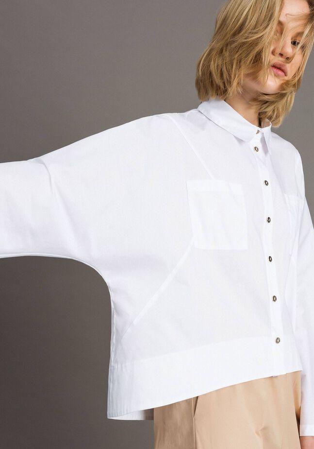 Poplin shirt with pockets