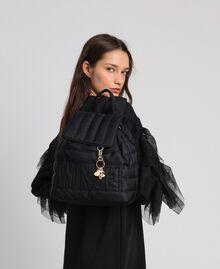 Sac à dos matelassé avec charms et logo Noir Femme 192TO8062-0S
