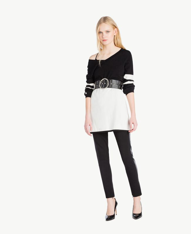 Zipped leggings Black Woman JS82FE-05