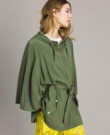 "Cape avec capuche Vert ""Cactus"" Femme 191MT2311-01"