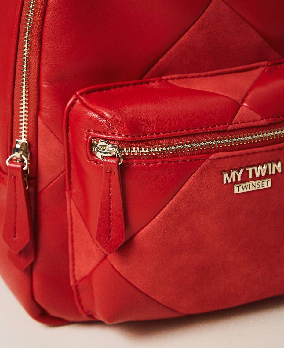 Sac à dos en similicuir Rouge Cerise Femme 202MA7021-03