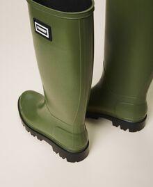 Rain boots with logo Creamy White Woman 202TCP210-02