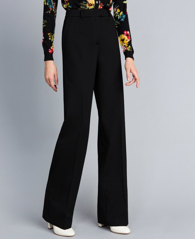 Milan stitch trousers Black Woman PA8218-03