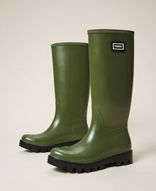 """Rain boots with logo """"Olive Green"""" Woman 202TCP210-01"""