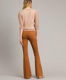 "Lurex jumper with butterfly detail ""Rose Sand"" Pink Lurex Woman 191TT3101-05"