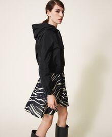 Blouson en taffetas avec capuche Noir Femme 202MP2142-03