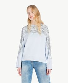 Lace sweatshirt Topaze Sky Blue Woman JS82H1-04