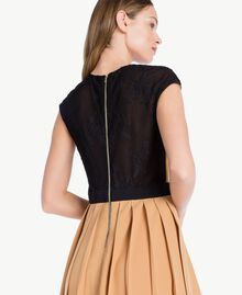 "Robe midi Beige ""Honey"" / Noir PA7234-03"