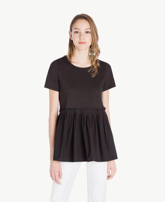 T-shirt jersey Noir Femme TS821J-01