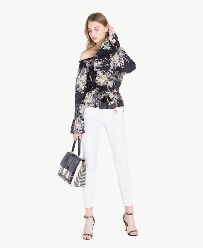 Skinny trousers White Woman YS82ZQ-05