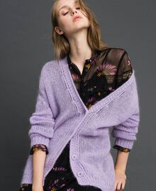 """Cardigan in mohair Rosa """"Pink Lavender"""" Donna 192TT3270-01"""