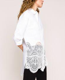 Поплиновая рубашка с кружевом Белый женщина 201TP2040-02
